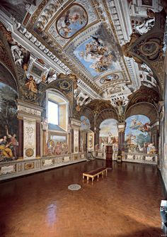 Florence, Palazzo Pitti General view looking toward the north and west walls. Tuscany