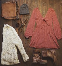 Fall dressy bohemian outfit
