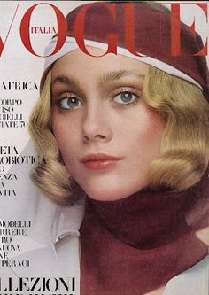 Cover Model: Jane Hitchcock  Photographed by: Barry Lategan, February 1970 - Vogue Italia
