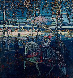 Another favorite Russian fairy tale rendering by Kandinsky.