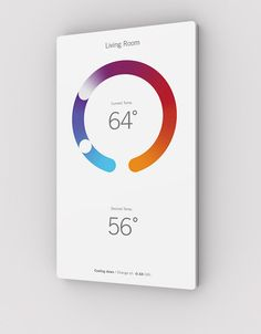 The Home Automation Panel That's Infographic Art - They include classic functions, like temperature, presented in a more beautiful, touch-tweakable way.