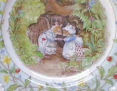 "Royal Doulton Brambly Hedge The Engagement China Plate 8"". $32.00, via Etsy."