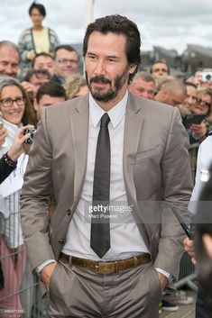 Keanu Reeves Photos - Actor Keanu Reeves is seen during the Deauville American Film Festival on September 2015 in Deauville, France. Keanu Reeves John Wick, Keanu Charles Reeves, Growing Facial Hair, Arch Motorcycle Company, Alex Winter, Keanu Reaves, American, The Boy Next Door, Blockbuster Film