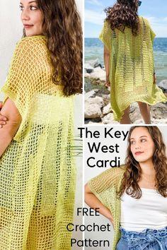 Crochet Coat, Crochet Cardigan Pattern, Cotton Crochet, Crochet Clothes, Crochet Sweaters, Crochet Motif Patterns, Filet Crochet Charts, Free Crochet, Crochet Summer
