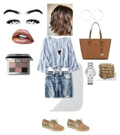 """""""Untitled #33"""" by skylasimshauser on Polyvore featuring American Eagle Outfitters, Sperry, MICHAEL Michael Kors, Bobbi Brown Cosmetics and Juicy Couture"""