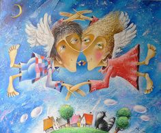 Wings. Painting by Yuri Matsik