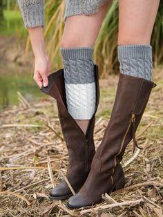 Bicolor Long Ankle Socks – linenlooks socks boots outfit,socks crafts,how to crochet socks Sock Boots Outfit, Knee Socks Outfits, Sock Crafts, Crochet Socks, Crazy Socks, Ankle Socks, Leg Warmers, Riding Boots, Legs