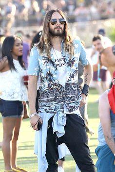 Jared Leto  Hawaiian shirts Style
