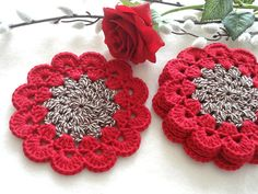 Coaster Crochet Coasters Placemat Table linens Kitchen Decor