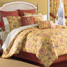Jardin Jacobean Floral Comforter Bedding by Croscill