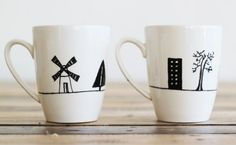 Simple Pattern for Mug. I want to draw it :) Lovely