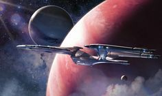 """A star trek redesign exercise. The Warden class of starship was lighter armored and more heavily armed. It was produced in a limited run. The captains of this class of ship developed quite a reputation in the Federation and were often referred to as the gunslinger captains in reference to the particular strategies and brand of diplomacy the Warden class was best deployed under. This particular image is of the last ship of its class in service and which was referred to simply as """"The Last..."""