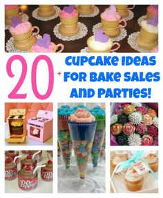 Over 20 of the BEST Cupcake & Bake Sale Ideas!