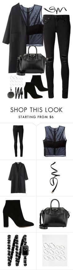 """Untitled#4011"" by fashionnfacts ❤ liked on Polyvore featuring rag & bone/JEAN, T By Alexander Wang, H&M, Gianvito Rossi, Givenchy, Chanel, ASOS, Fendi, women's clothing and women's fashion"