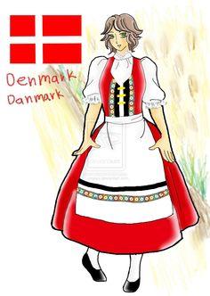 Danish folk dress by umpiya on DeviantArt Danish Language, Beauty And The Beast Costume, Danish Culture, Danish Christmas, Heirloom Sewing, Skagen, Folk Costume, Historical Clothing, Danish Modern