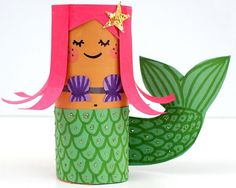 Get creative and use what you already have at home! Make these toilet paper crafts for kids. 20 toilet paper roll crafts that are so fun to make. Toilet Paper Roll Crafts, Paper Crafts For Kids, Crafts For Kids To Make, Kids Diy, Paper Crafting, Kids Crafts, Toddler Crafts, Decor Crafts, Easy Crafts
