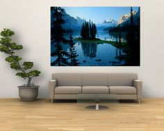 Marvelous Scenic View Of The Lake Surrounded By Evergreens And Snow Capped Mountains Part 31