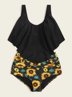 Sunflower Bikini, Bra Types, Swimsuits, Swimwear, Spandex Fabric, Bikini Set, Scoop Neck, Bodysuit, My Style