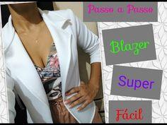Blazer simples e fácil para iniciantes - YouTube Neoprene, Blazer, Coat, People, Jackets, Dresses, Youtube, Fashion, Shoelace Tying