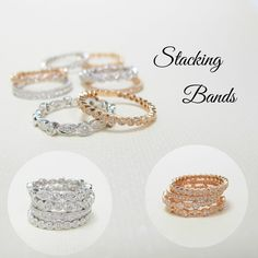 Stacking diamond bands are a great way to remember life's greatest events.  Make an addition for a birthday, anniversary, new baby, or a personal triumph!