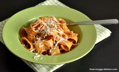 pasta with sauce made from dried tomatoes / pasta mit sauce aus getrockneten tomaten