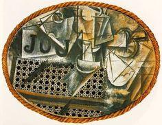 Pablo Picasso, Naturaleza muerta con silla de paja, 1912