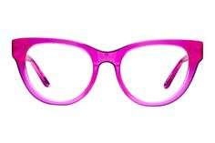 These retro gx cat-eye frames in electrifying hues will have you channeling your favorite pop star in no time. Pink Glasses Frames, Fashion Eye Glasses, New Glasses, Cat Eye Frames, Gwen Stefani, Eyewear, Personal Style, Bling, Barbie Stuff