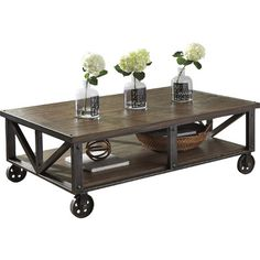 Franklin Coffee Table Weathered Gray The Industrial Shop
