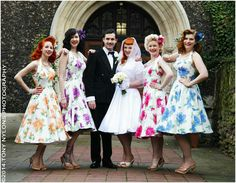 Vivian of Holloway bridesmaids dresses for vintage spring themed wedding