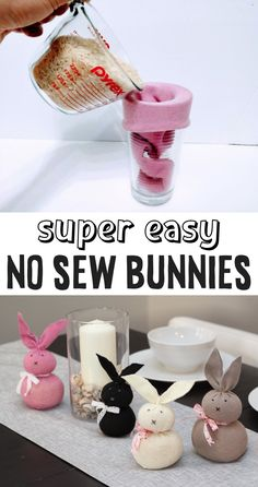 Adorable DIY No-Sew Bunny Tutorial (Quick & Easy Craft For Kids To Make!)