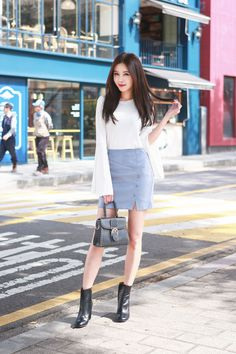 Korean Fashion Spring Feminine Elegant Casual Urban Chic Outfit