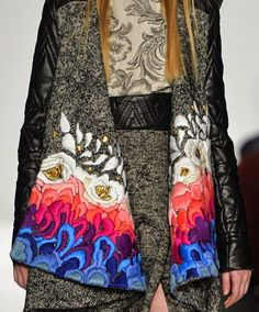 patternprints journal: PRINTS, PATTERNS, TEXTURES AND TEXTILE SURFACES FROM NEW YORK FASHION WEEK (WOMENSWEAR F/W 2015-16) / Academy Art University.