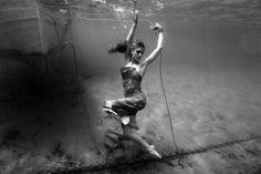 Sunken Kaiki underwater fashion shooting ©peter de mulder