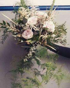 F E R N S For Jane // all about the foliage  #ferns #foliage #greenery #bride #bouquet #cascadebouquet #tumble #flow #flowers #florist #Glasgow #armbouquet #tenementlife #tenementclose #tenement