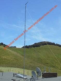 A view looking from the north east to south west of the 14DB RFI 16 Element yagi antenna connected to a Telstra NextG Cel-Fi supplied and installed by waykatservices.com.au top enable Telstra NextG mobile reception at this remote location in far south western Victoria