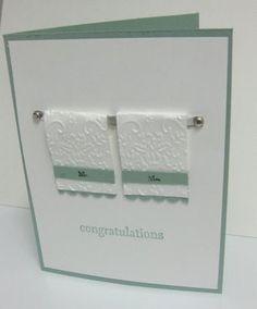 Playful wedding cuttlebug card cuttlebug