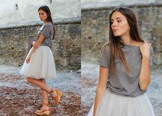 Chic Wish Skirt, Hasbeens Shoes, Asos Tshirt
