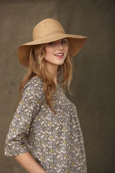 Liberty Print Tunic with 3/4 sleeves - Grey Floral I think i'd mostly skip the hat.