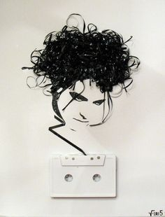 Tape-portrait by Erika Iris Simmons  R. Smith/The Cure