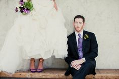 purple green wedding inspiration elegant bridal style Gucci shoes bouquet with succulents