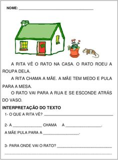 TEXTOS CURTOS COM INTERPRETAÇÃO 1º ANO FUNDAMENTAL Portuguese Lessons, Learn Portuguese, Classroom Behavior, Too Cool For School, School Kids, Addition And Subtraction, Word Problems, Task Cards, Jumpsuits For Women