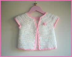 I designed this cute little baby girl jacket for a beautiful new baby called Rosie      Rosebud Baby Girl Crochet Cardigan Jacket      Pink...
