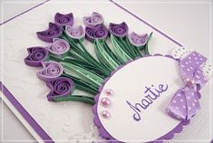 Quilling Birthday Cards, Paper Quilling Cards, Origami And Quilling, Quilling Paper Craft, Quilling Flowers, Paper Flowers, Paper Crafts, Quilling Patterns, Quilling Designs