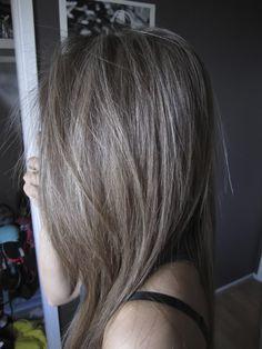 grey brown hair - Google Search