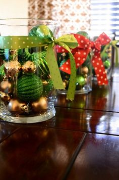 DIY Christmas Table Centerpieces