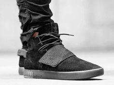 adidas Tubular Invader mit Obermaterial aus Leder und großem Strap für maximalen Halt im Schuh. Hier entdecken und shoppen: http://sturbock.me/5Ne
