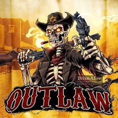 Freelance Illustration and Graphic Design by Brian Allen Skull Pictures, Pictures To Draw, Western Saloon, Iron Maiden Mascot, Cartoon Character Tattoos, Aztecas Art, David Mann Art, Skull Rose Tattoos, Flame Art