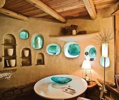 Amazing Greenhouse Earthship Home Design Made Of Recycled - Decomagz Cob Building, Green Building, Building A House, Maison Earthship, Earthship Home, Cob House Interior, Interior Design, Adobe Haus, Earth Bag Homes