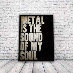 Metal Poster, Music Poster, rock poster, heavy metal poster, indie poster, punk poster, bedroom poster, music, rock, punk, A3 poster, unfram...