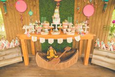 Dessert table at an American Girl Kaya birthday party! See more party ideas at CatchMyParty.com!